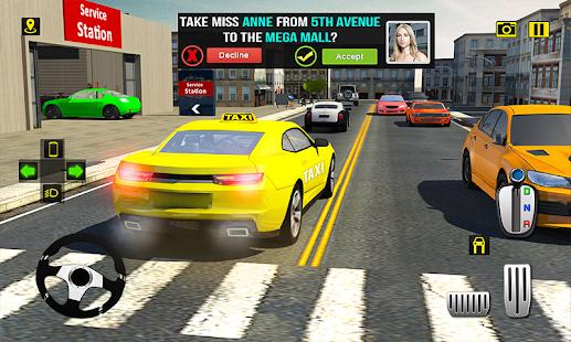 Yoğun Saat Taksi Sürücü Ny şehir Araba Taksi Oyunu 17 Hileli Apk