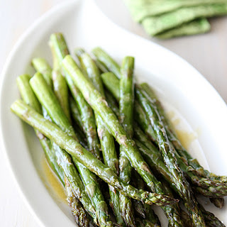 Roasted Asparagus with Miso Lime Dressing