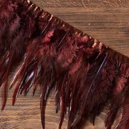 Fjäderband - tupp, 14cm, brun