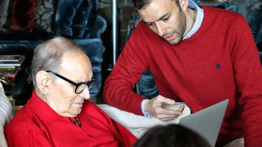 Guillermo de Oliveira entrevistó a Ennio Morricone para el documental 'Desenterrando Sad Hill'. / Foto: Zapruder Pictures