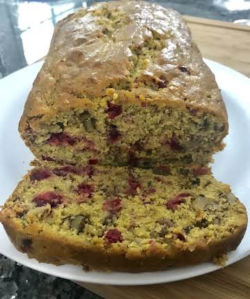 Pumpkin Fresh Cranberry Nut Bread