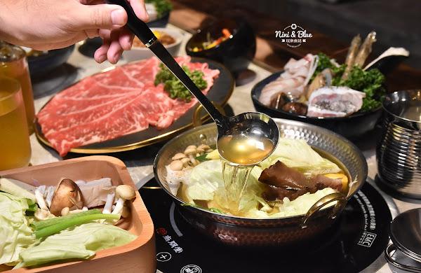 月暮藏涮涮鍋 |台中西屯活體海鮮、日本和牛,浮誇貴氣裝潢+個人火鍋套餐499元起