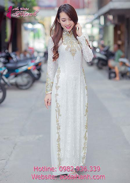 áo dài cưới người hoa
