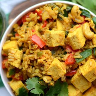 Vegan Tofu and Cashew Fried Rice.