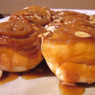 Caramel Almond Sticky Buns