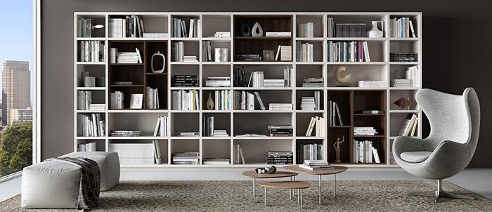 Thiết kế phòng sách với tone màu trầm