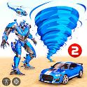 Tornado Robot Car Transform: Hurricane Robot Games icon