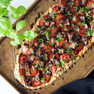 Strawberry Balsamic Goat Cheese Pizza.