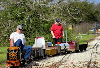 Photo: Gearld Lee (engineer) and Chris Tolley (brakeman).  HALS OPS Day 2014-0329 RPW