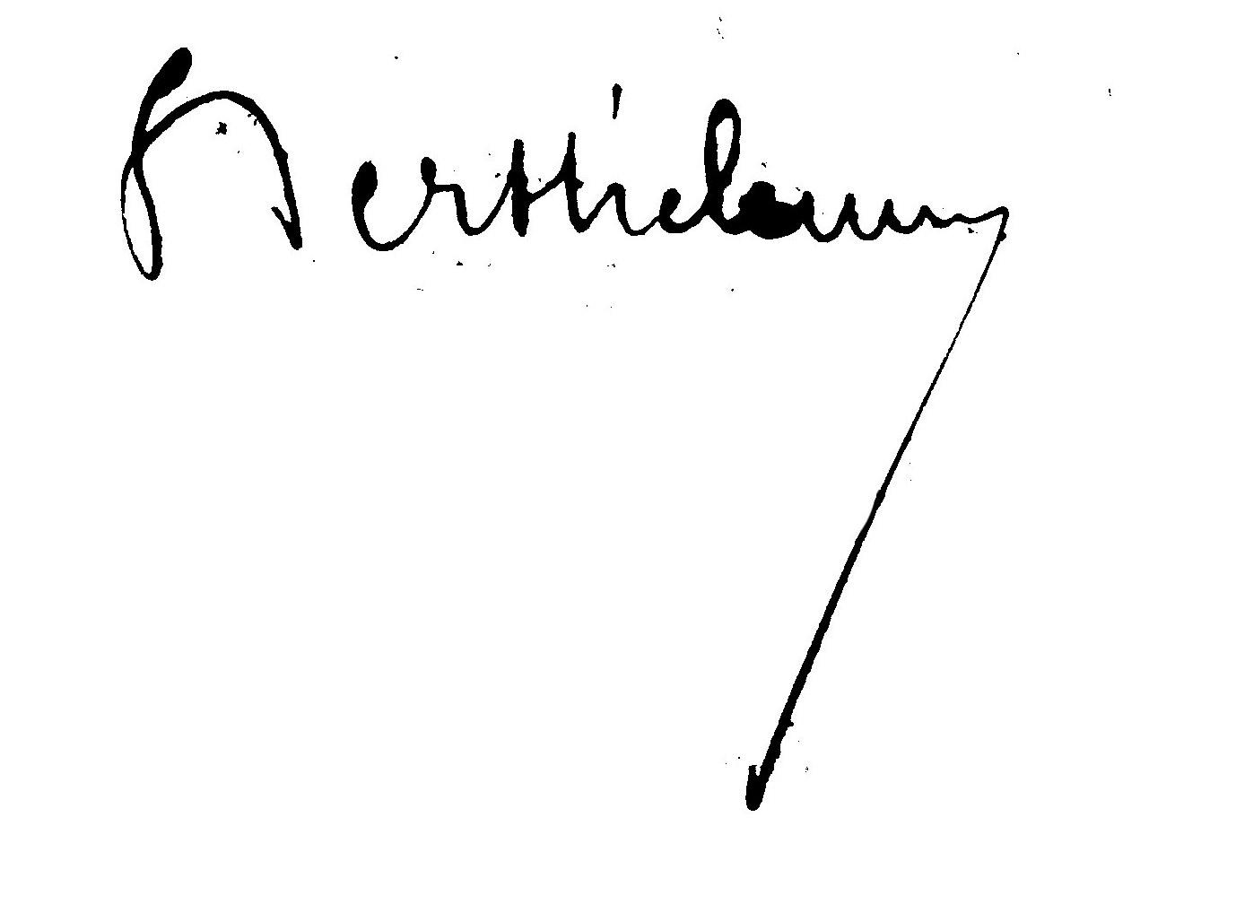 Зразок підпису генерала Бартелемі