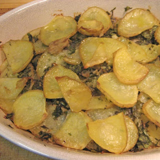 Potato Gratin with Herbs and Garlic.