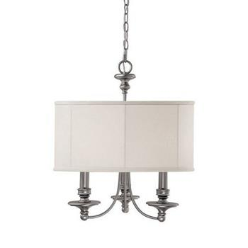 Photo: Capital 3913MN-453 Traditional / Classic Matte Nickel 3 Light Chandelier