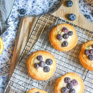 Blueberry Cream Cheese Danish.