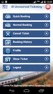 UTS on mobile app – Indian Railways 3