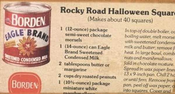 Rocky Road Halloween Squares Recipe