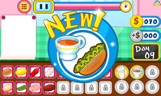 Burger shop fast food - náhled