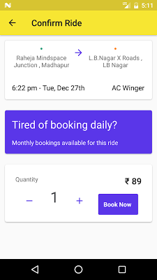 Commut - Daily Commute service - screenshot