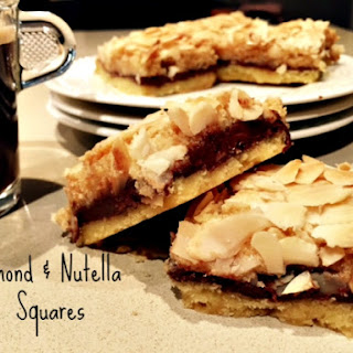 Almond and Nutella Slice