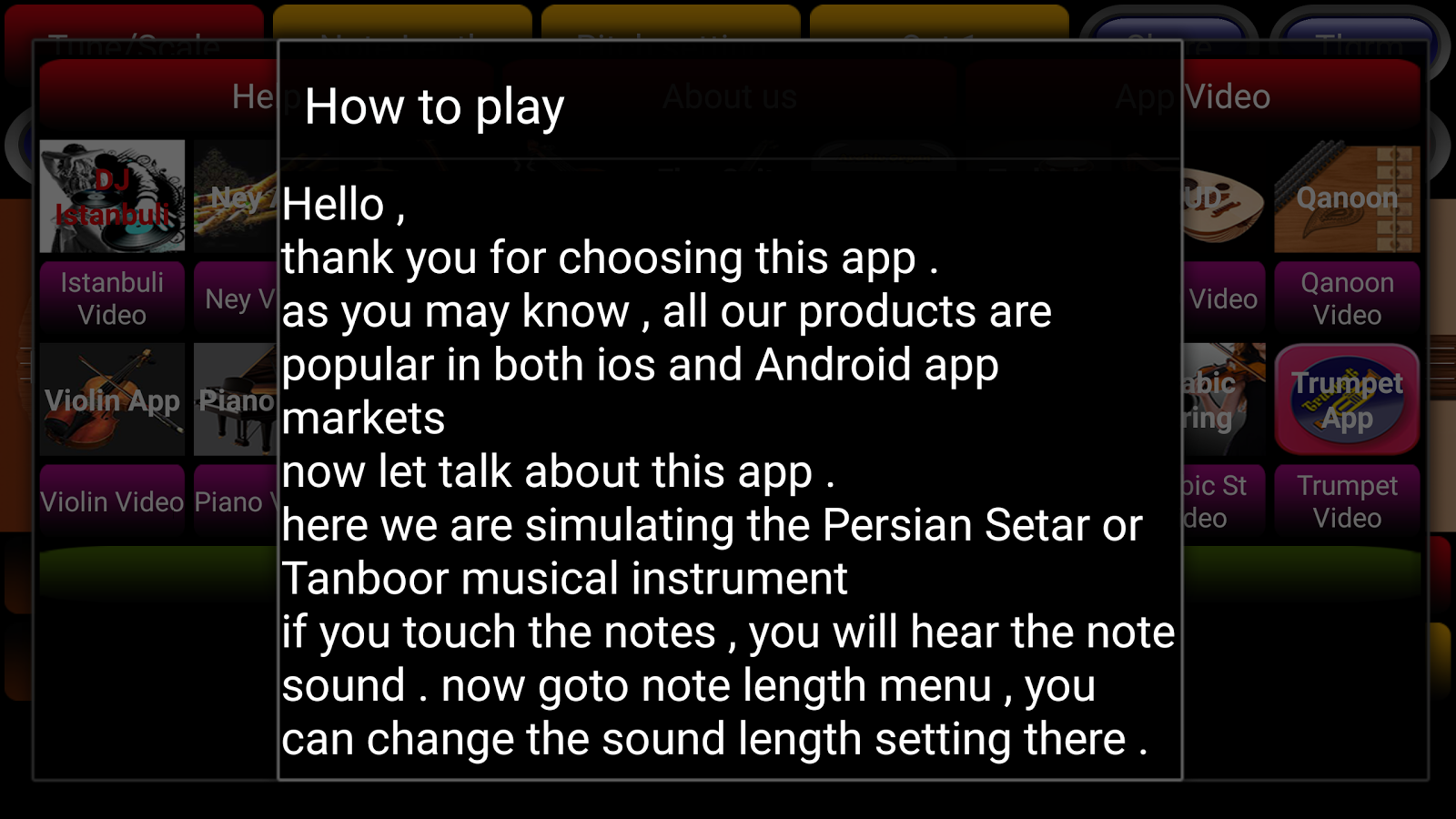 Saz Persian Setar Pro- screenshot