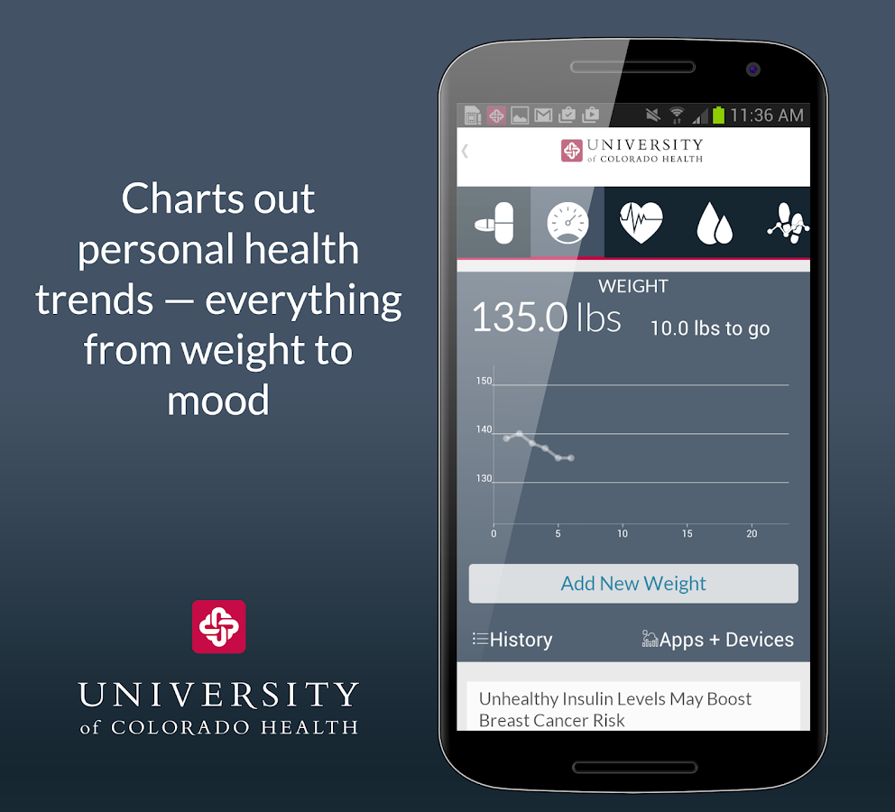University of Colorado Health - screenshot