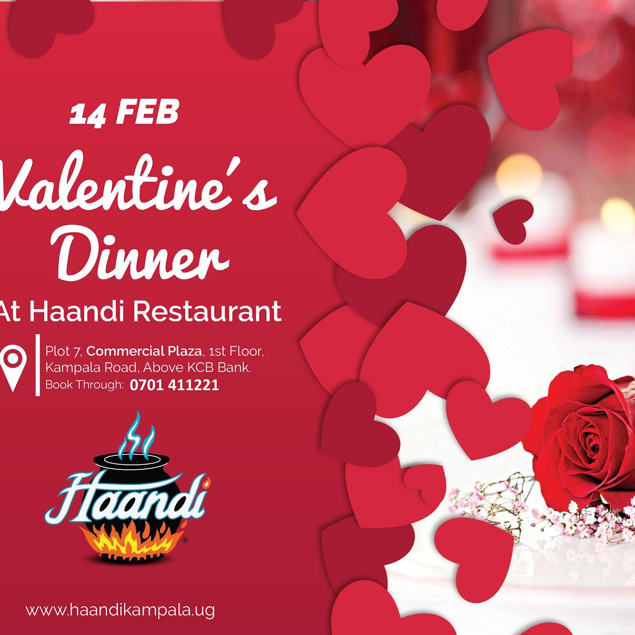 221721071596 Haandi kampala restaurant ltd - Indian Restaurant in Kampala