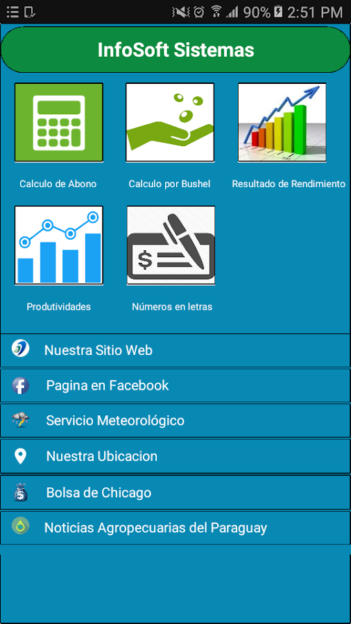 InfoSoft Agrícola- screenshot