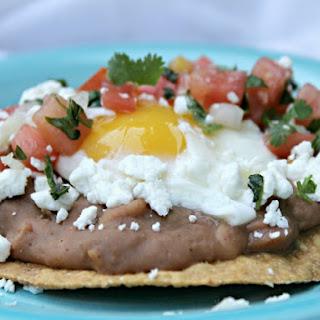 Vegetarian Huevos Rancheros with Fresh Pico de Gallo.