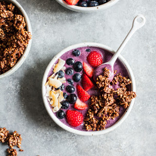 Acai Bowls with Crispy Buckwheat Cocoa Clusters
