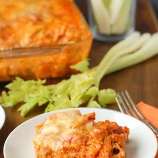 Cheesy Buffalo Chicken Lasagna.