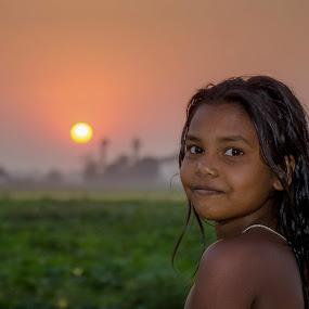village girl  by Shyama Dev - Babies & Children Children Candids ( #village #girl #candid #nature #photos )