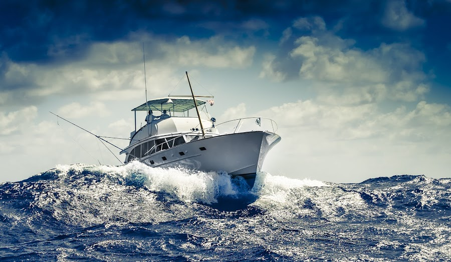 Fishing The Rough by Brian Evans - Transportation Boats ( clouds, water, colorgrading, fish, ocean, exploration, boating, epic, aquatic, action, artistic, fishing, storms, telephoto )
