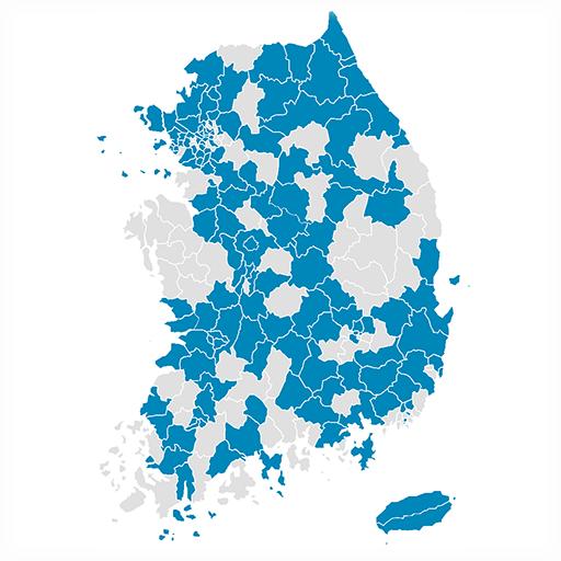 Visited Korea Map