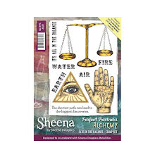 Sheena Douglass Perfect Partner Alchemy A6 Stamp Set - Fate in the balance UTÅEN