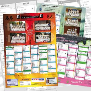 Calendrier annuel pour associations sportives