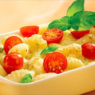 Pesto-Bechamel zum Überbacken von Gnocchi