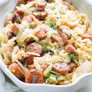 Easy Sausage and Cabbage Dinner.