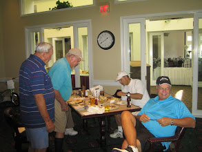 Photo: Gill Wilson, Bob Benedict, John Meade, Ron Latow after the Tournament - April 18, 2009