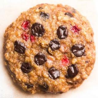 Dark Chocolate Strawberry Oatmeal Cookies