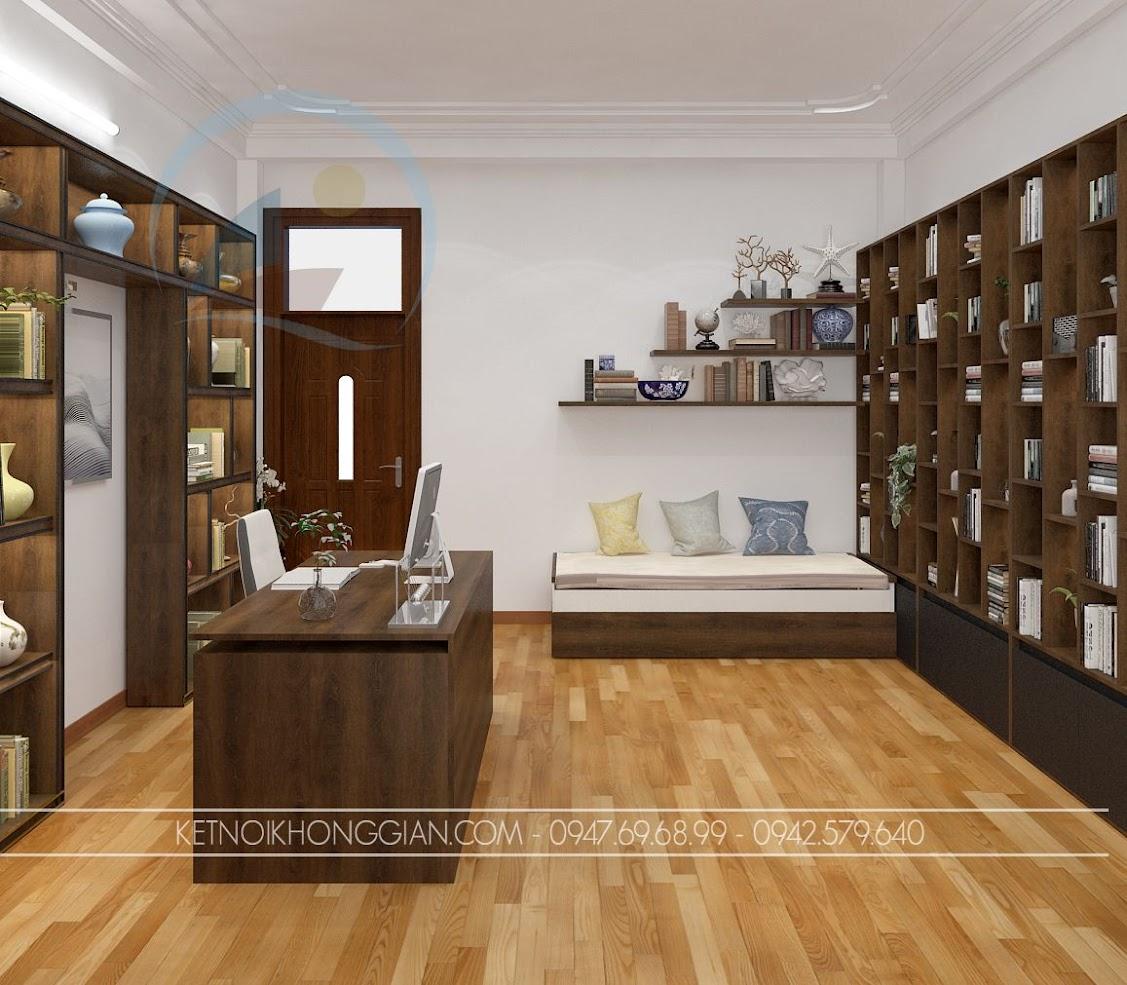 thiết kế phòng đọc sách kết hợp phòng làm việc và phòng học 9