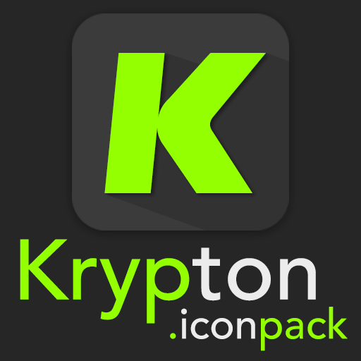 لالروبوت Krypton - Icon pack تطبيقات