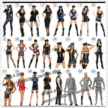 Halloween必備 cosplay服 (女警服) 售價 : HKD 80~170  #halloween #cosplay #女警