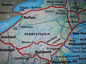 Photo: We travelled 1234 miles from Philadelphia to Pittsburg to Cleveland to Albany-Rensselaer to New York and back to Philadelphia in 35.5 hours
