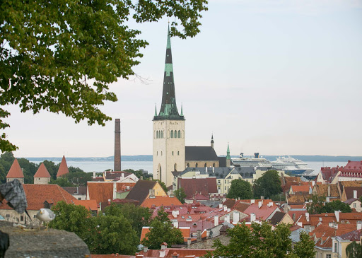 The charming cityscape of Tallinn, Estonia, recalls its medieval heritage.