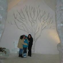 Photo: Las paredes del #hotel de #hielo de #Quebec también tienen detalles decorativos