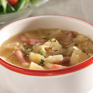 Ham, Potato and Cabbage Soup.