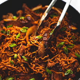 Spicy Korean Beef Noodles.