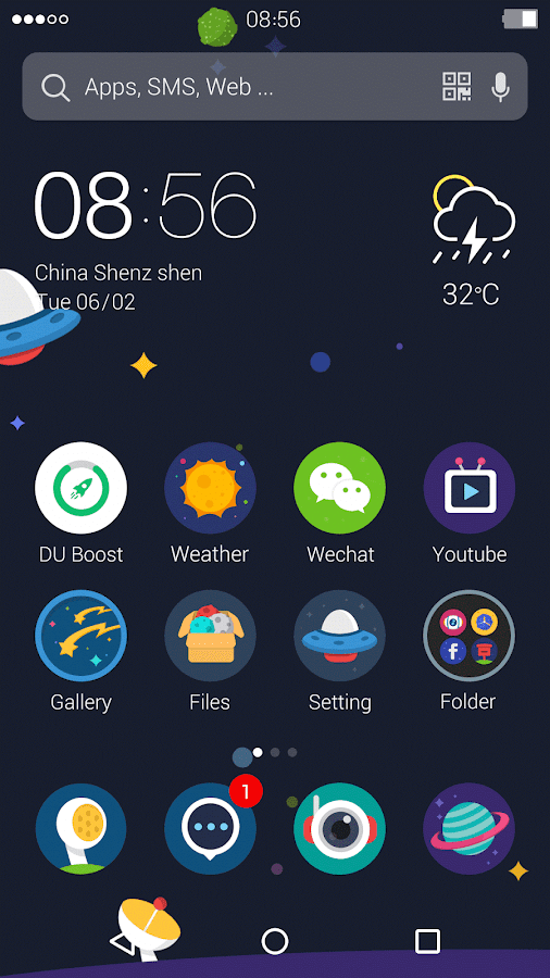 Universe: DU Launcher Theme- screenshot