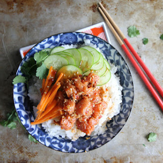 Spicy Salmon Sushi Bowl Recipe