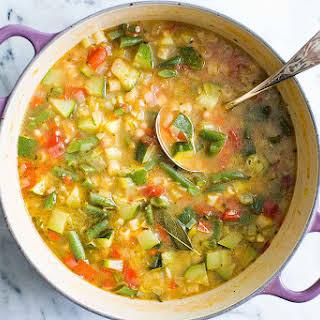 Summer Minestrone Soup.