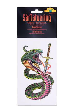 Tatuering, orm med svärd